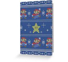 Mario Christmas Sweater Greeting Card