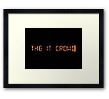 Title - The IT Crowd Framed Print