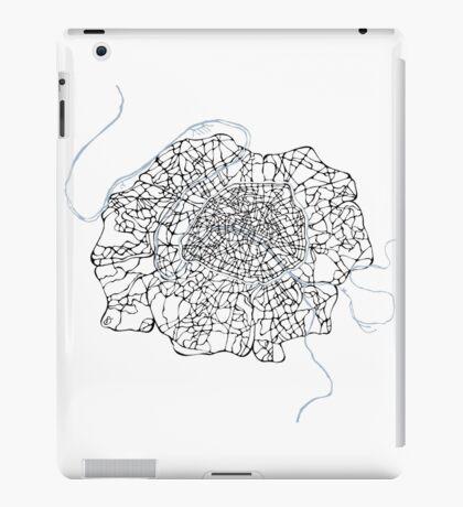 Fleur de Paris (blue) iPad Case/Skin