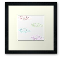 Colorful Monotremes Framed Print