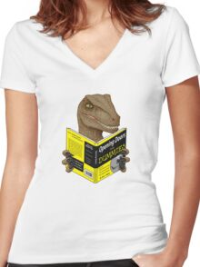 Opening Doors for Dummies Women's Fitted V-Neck T-Shirt