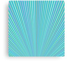 Abstract Blue Background with Colorful Fanning Lines Canvas Print