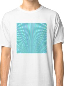 Abstract Blue Background with Colorful Fanning Lines Classic T-Shirt