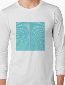 Abstract Blue Background with Colorful Fanning Lines Long Sleeve T-Shirt