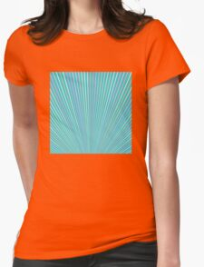 Abstract Blue Background with Colorful Fanning Lines T-Shirt
