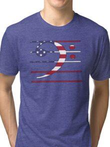 American Flag – Bass Clef Tri-blend T-Shirt