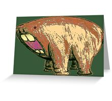 Hippo Hamster Hybrid Greeting Card