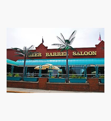 Beer Barrel Saloon Photographic Print
