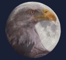 Bald Eagle in the  Full Moon  Kids Clothes