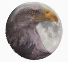 Bald Eagle in the  Full Moon  One Piece - Long Sleeve