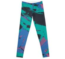 Black & Blueberry Splash Leggings