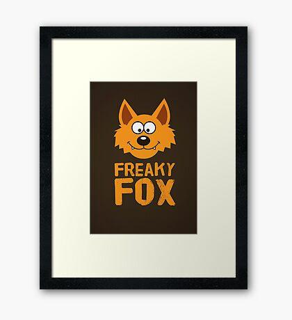 Funny cute Freaky Fox Framed Print