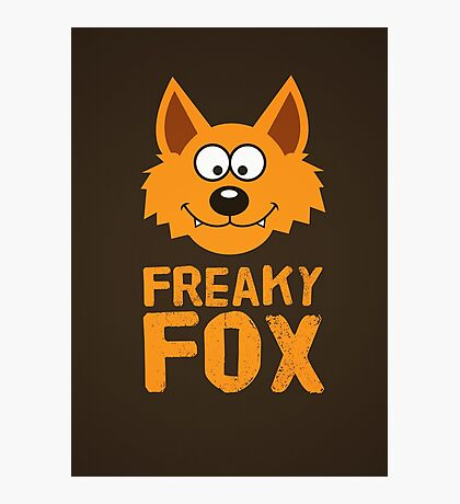 Funny cute Freaky Fox Photographic Print