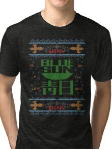 Firefly Blue sun ugly christmas variant T-Shirt  Tri-blend T-Shirt