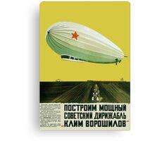 Vintage Russian airship poster Canvas Print