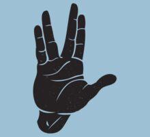Spocks Hand Galaxy Kids Tee