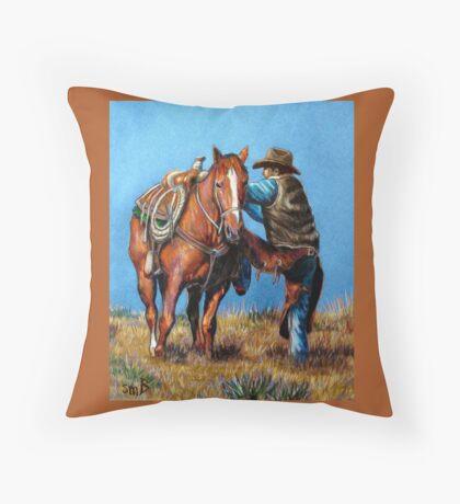 """""""Cowboy Up"""" Throw Pillow"""