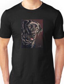 """""""Signature Grin"""" Portrait Of A Black Lab Unisex T-Shirt"""