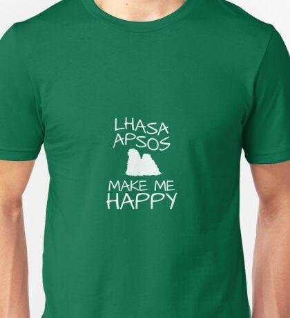Lhasa Apsos Make Me Happy Unisex T-Shirt