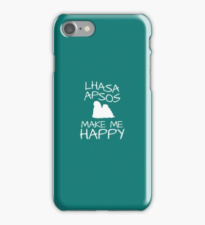Lhasa Apsos Make Me Happy iPhone Case/Skin