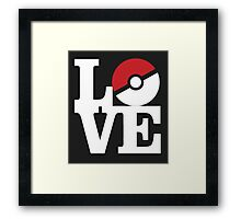 Love Pokemon Framed Print