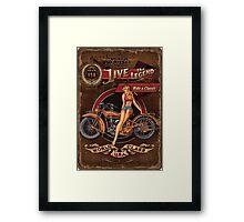 Live the Legend Framed Print
