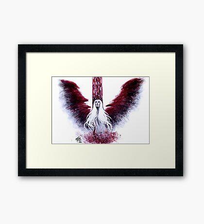 Angel Down Framed Print