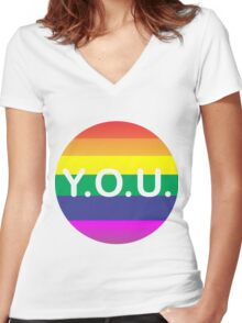 Y.O.U. Women's Fitted V-Neck T-Shirt
