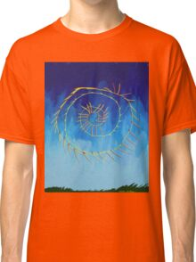 Spiritual abstract expressionist nature blue yellow green Classic T-Shirt