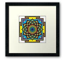 Flower of Life Psychedelic Mandala Framed Print