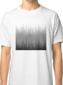 Black and White Thin Line Background Classic T-Shirt