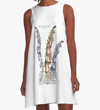 Foxglove A-Line Dress