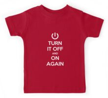 Keep Calm - Turn It Off and On Again Kids Tee