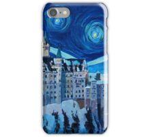 Sternen Nacht in Neuschwanstein - Romantisches Schloß Van Gogh inspiriert iPhone Case/Skin