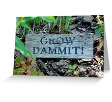 """Gardening Directions"" Greeting Card"