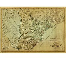 Map of United States North America & Louisiana (1805) Photographic Print