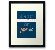 Do It in Java Framed Print