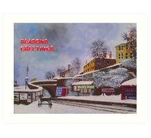 Port Glasgow Christmas  Art Print