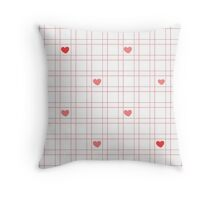 Picture for interior decoration colorful line with hearts  Throw Pillow