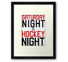 Hockey Night Framed Print