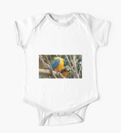 Blue And Gold Macaws One Piece - Short Sleeve