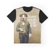 Cowboy Dog with a Gun Graphic T-Shirt