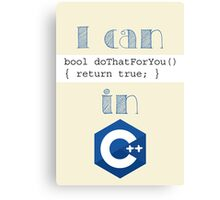 Do It in C++ Canvas Print