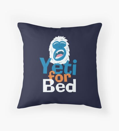 Yeti for Bed Throw Pillow
