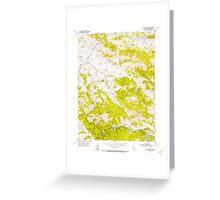 USGS TOPO Map California CA San Geronimo 300077 1954 24000 geo Greeting Card