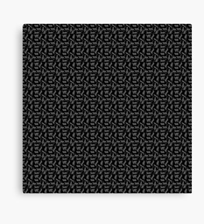 All The Cats Pattern Canvas Print