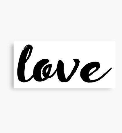 Love Cursive Canvas Print