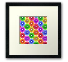 Funny colorful abstract flower pattern in rainbow colors Framed Print