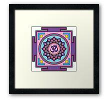 Om Mandala Framed Print