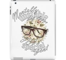 Mentally unstable dog lover & FBI's Special Agent iPad Case/Skin